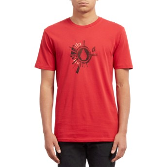 Volcom Engine Red Radiate Red T-Shirt