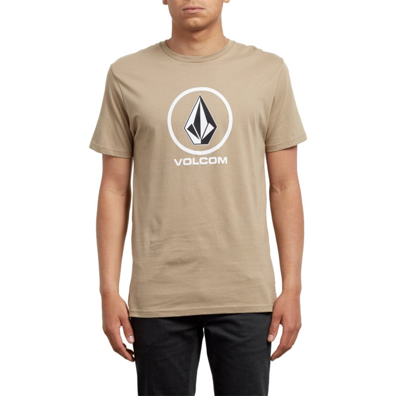 dc097891de Volcom Sand Brown Crisp Brown T-Shirt: Shop Online at Caphunters