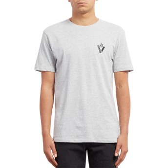 Volcom Heather Grey Cut Out Grey T-Shirt