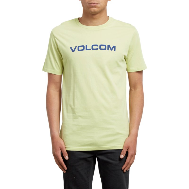 db67b8ac66 Volcom Shadow Lime Crisp Euro Yellow T-Shirt: Shop Online at Caphunters