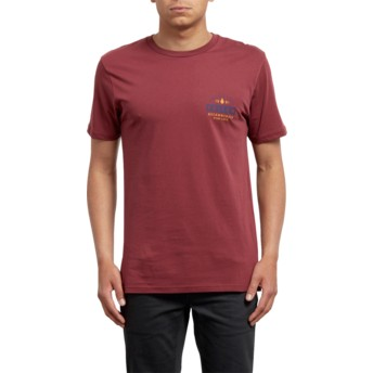 Volcom Crimson Barred Red T-Shirt