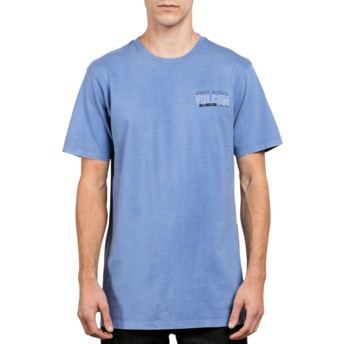 Volcom Zine Purple Copy Cut Blue T-Shirt