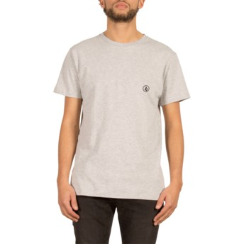 Volcom Logo In A Circle Heather Grey Stone Blank Grey T-Shirt