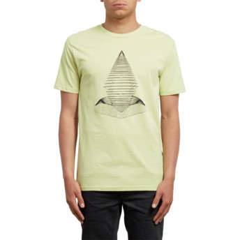 Volcom Shadow Lime Digital Redux Yellow T-Shirt