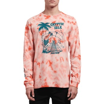 Volcom Orange Glow Tomb Orange Long Sleeve T-Shirt