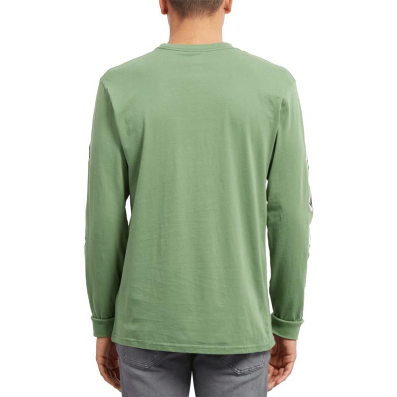 146532a5c Volcom Dark Kelly Deadly Stone Green Long Sleeve T-Shirt: Shop ...