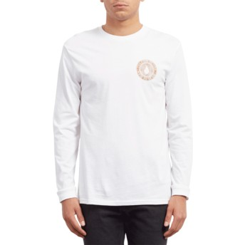 Volcom White Volcomsphere White Long Sleeve T-Shirt