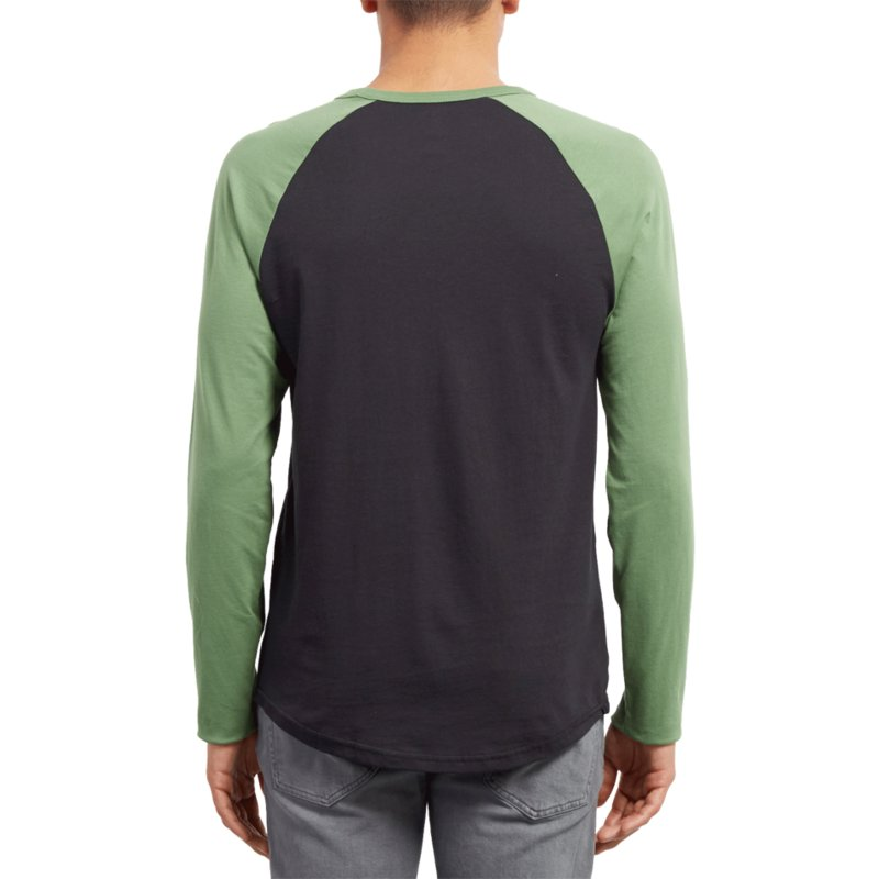 5af994568 Volcom Dark Kelly Pen Black and Green Long Sleeve T-Shirt: Shop ...