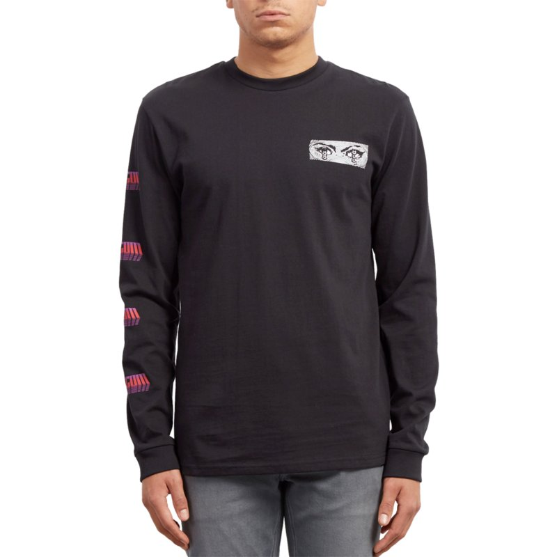0c6caeaf Volcom Black Black Black Hole Long Sleeve T-Shirt: Shop Online at ...