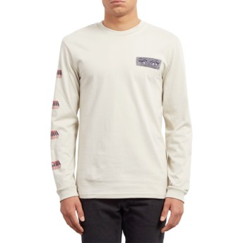 Volcom Clay Black Hole Beige Long Sleeve T-Shirt