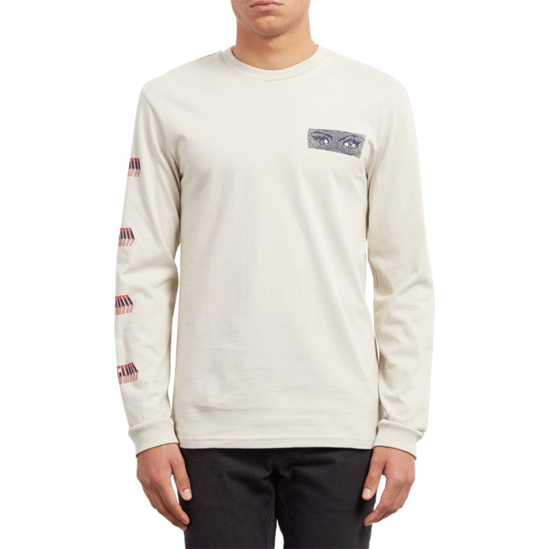 4e1d0564 Volcom Clay Black Hole Beige Long Sleeve T-Shirt: Shop Online at ...