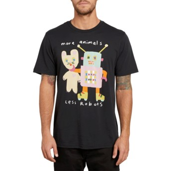 Volcom Black Less Bots Black T-Shirt