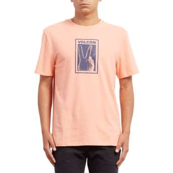 Volcom Orange Glow Peace Off Orange T-Shirt