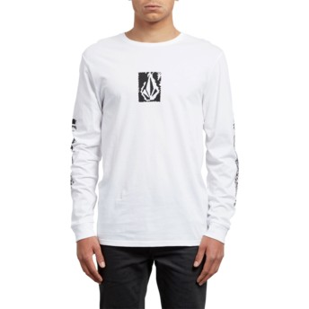 Volcom White Pixel Stone White Long Sleeve T-Shirt