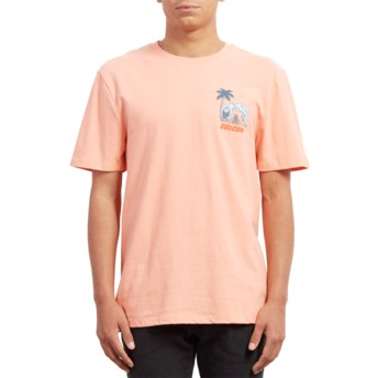 Volcom Orange Glow Cryptic Isle Orange T-Shirt