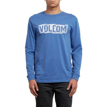 Volcom Blue Drift Edge Blue Long Sleeve T-Shirt