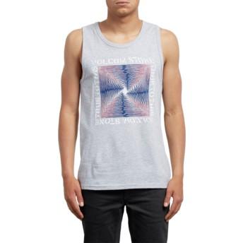 Volcom Heather Grey Stoneradiator Grey Sleeveless T-Shirt