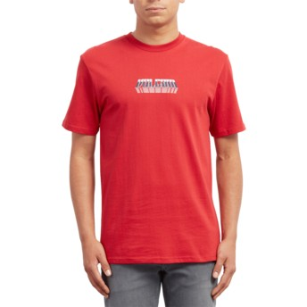 Volcom Engine Red Black Hole Red T-Shirt