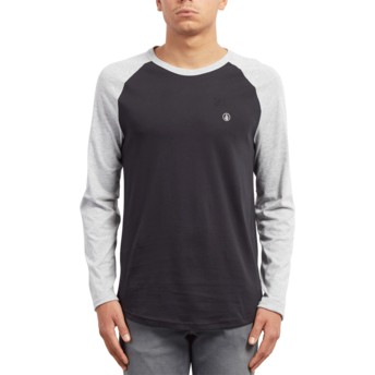 Volcom Black Pen Black and Grey Long Sleeve T-Shirt