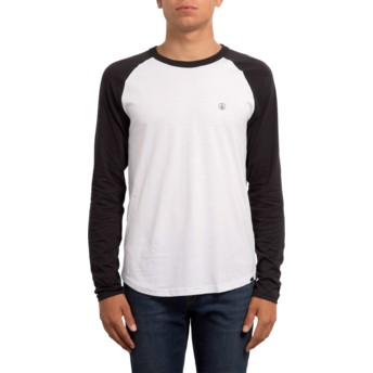 Volcom White Pen Black and White Long Sleeve T-Shirt