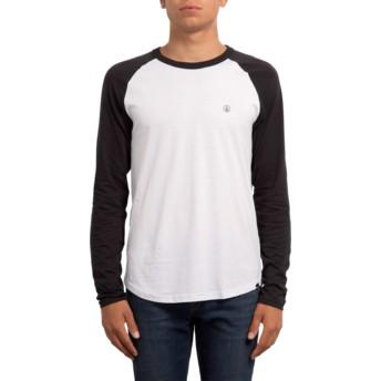 Volcom White Pen Black and White Long Sleeve T-Shirt
