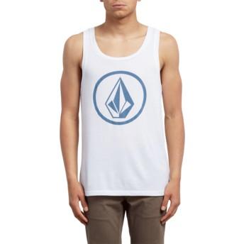 Volcom White Classic Stone White Sleeveless T-Shirt