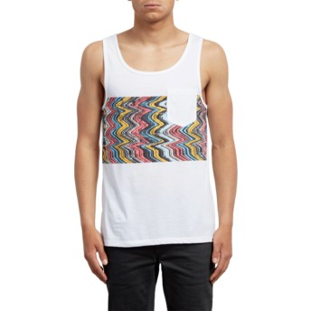 Volcom White Lofi White Sleeveless T-Shirt