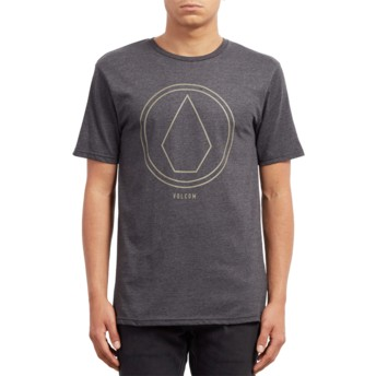 Volcom Heather Black Pinline Stone Black T-Shirt
