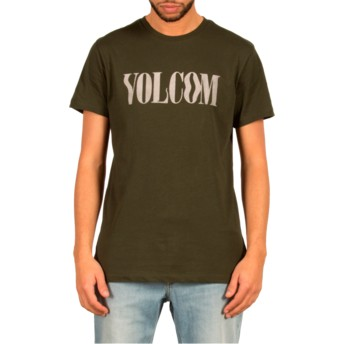 Volcom Dark Green Weave Green T-Shirt