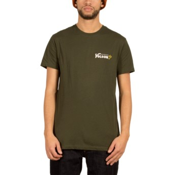 Volcom Dark Green Shroomy Green T-Shirt