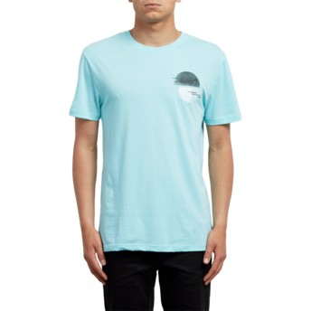 Volcom Pale Aqua Over Ride Blue T-Shirt