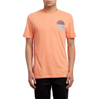 Volcom Salmon Over Ride Orange T-Shirt