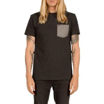 Volcom Heather Black Contra Pocket Black T-Shirt