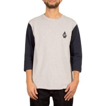 Volcom Heather Grey Chain Gang Grey 3/4 Sleeve T-Shirt