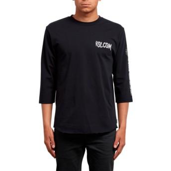 Volcom Black Enabler Black 3/4 Sleeve T-Shirt