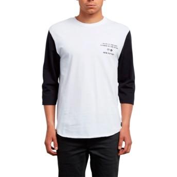 Volcom White Enabler White 3/4 Sleeve T-Shirt