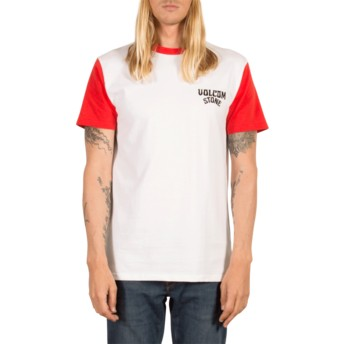 Volcom True Red Washer Red and White T-Shirt