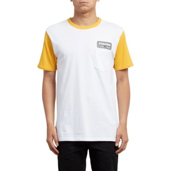 Volcom Tangerine Angular Yellow and White T-Shirt