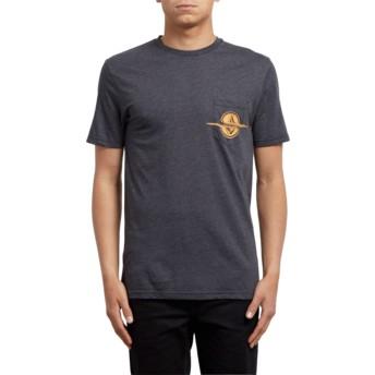 Volcom Heather Black Rip Pocket Black T-Shirt