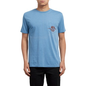 Volcom Wrecked Indigo Rip Pocket Blue T-Shirt
