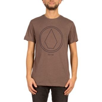 Volcom Plum Pinline Stone Brown T-Shirt