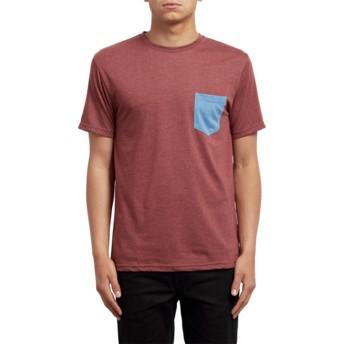 Volcom Crimson Pocket Red T-Shirt
