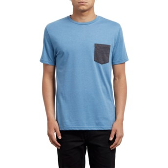 Volcom Wrecked Indigo Pocket Blue T-Shirt