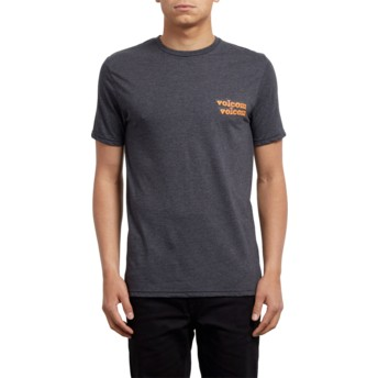 Volcom Heather Black Peek A Boo Black T-Shirt