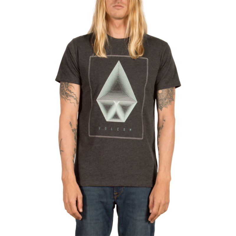 da9c0d70 Volcom Heather Black Concentric Black T-Shirt