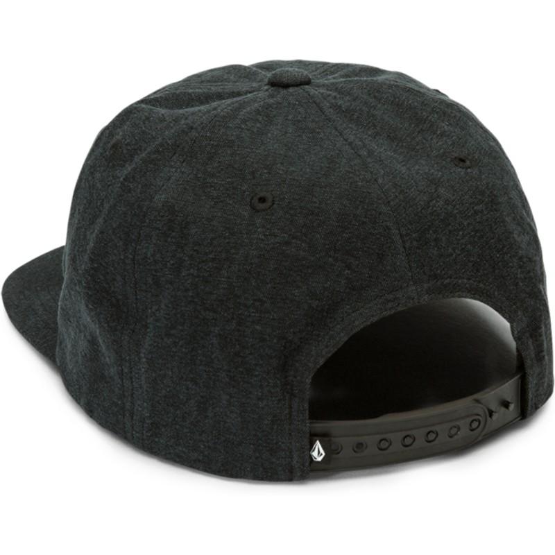eaf2fa3a056 Volcom Flat Brim Black Burch Experiment Black Snapback Cap  Shop ...