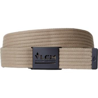 Volcom Sand Brown Banzai Web Brown Belt