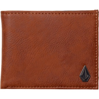 Volcom Hazelnut Slim Stone Brown Wallet