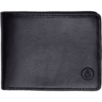 Volcom Black Strangler Leather Black Wallet