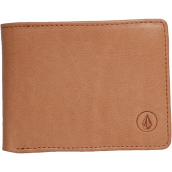 Volcom Natural Strangler Leather Brown Wallet